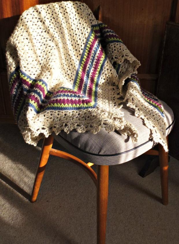new crochet granny shawl