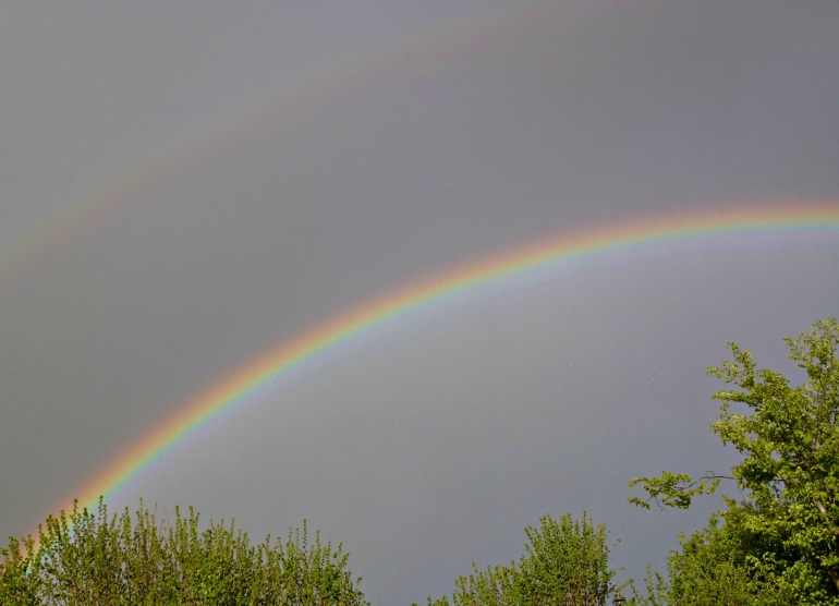 two rainbows!
