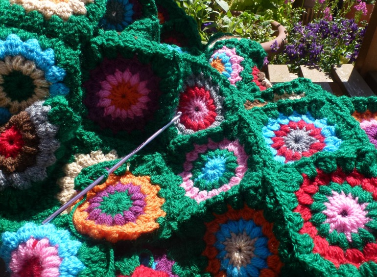crochet in the garden
