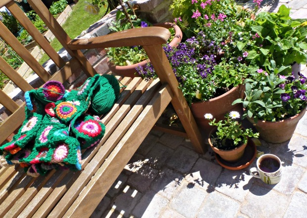crochet in the sunshine