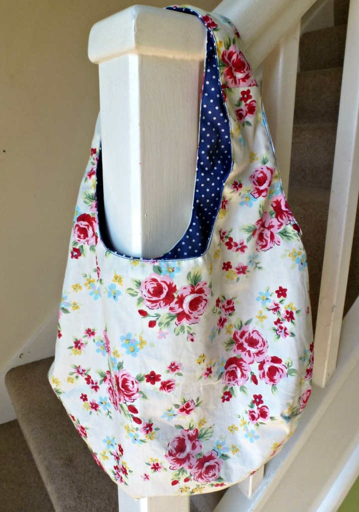 handmade reversible bag