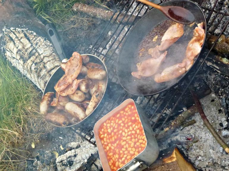 a proper camping breakfast