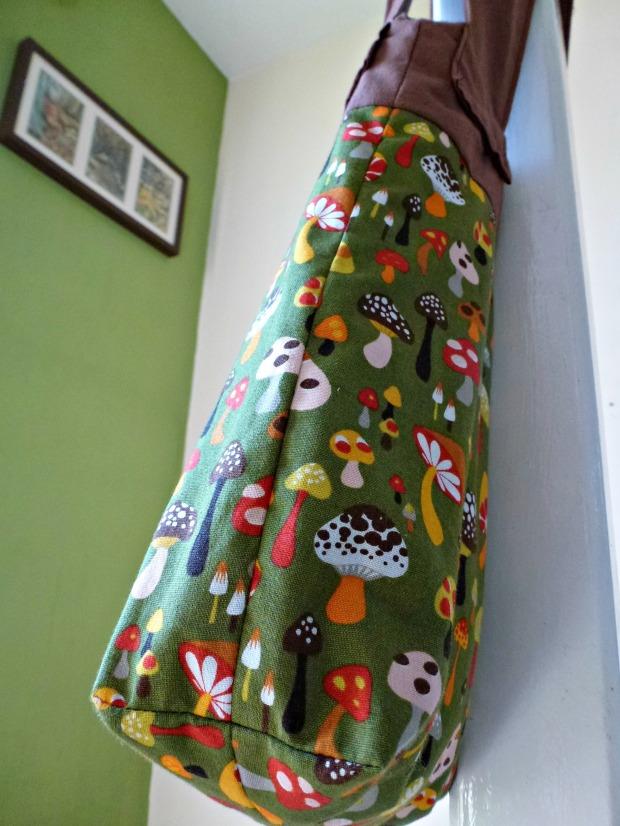 detail handmade toadstool bag