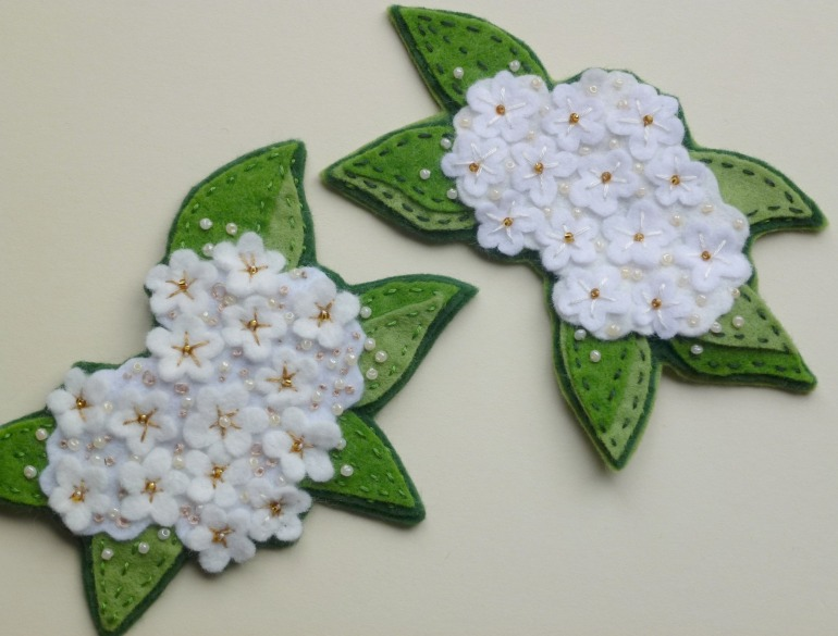 elderflower brooches