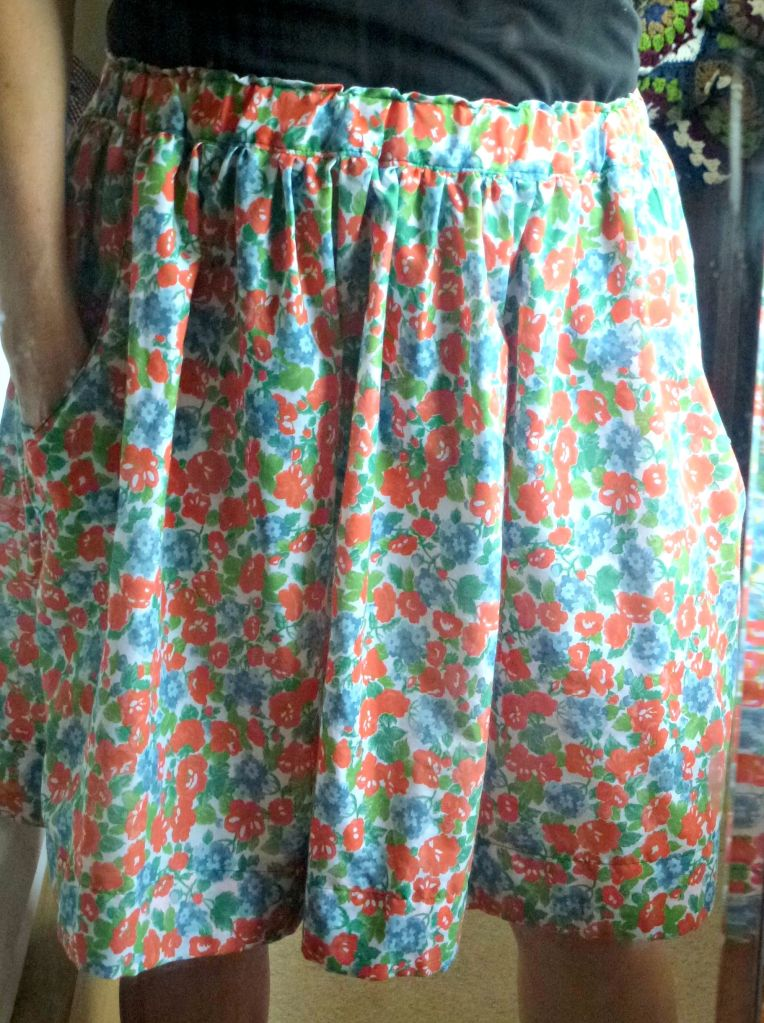 homemade skirt with pockets