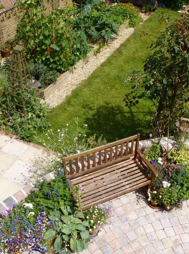 summer garden from above