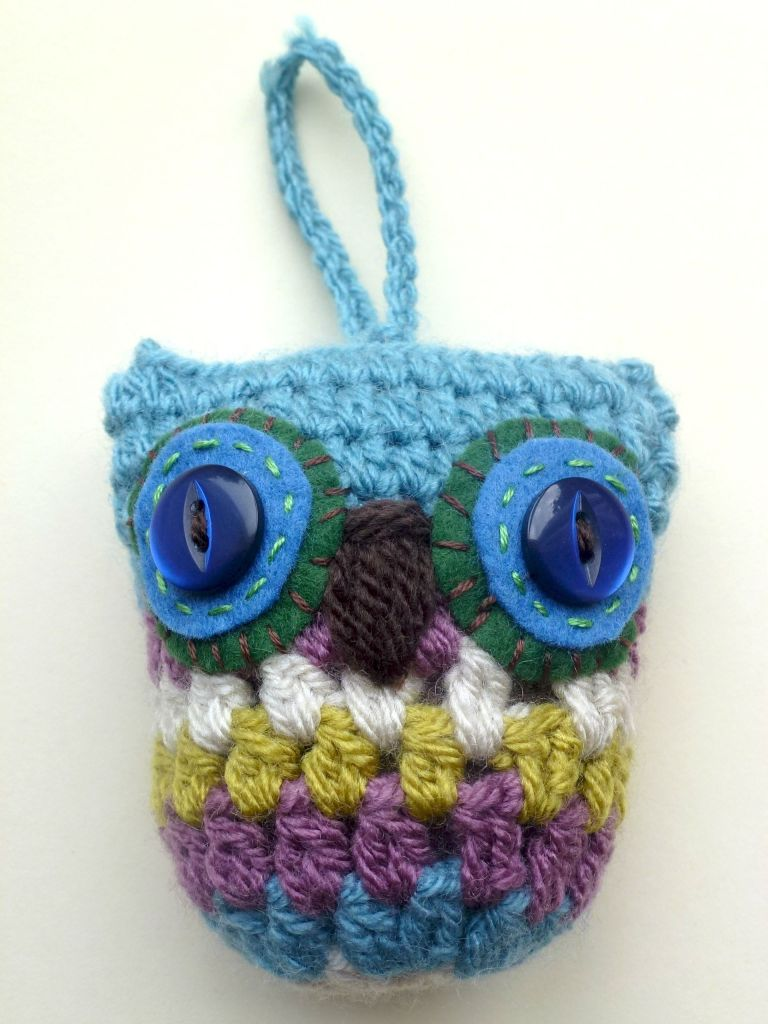 crochet granny owl pattern. Add wings and tufts for more owliness.