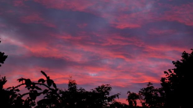 6am red sky in the morning