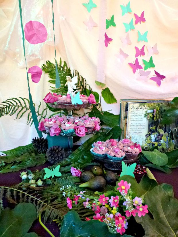 A fairy party birthday table.