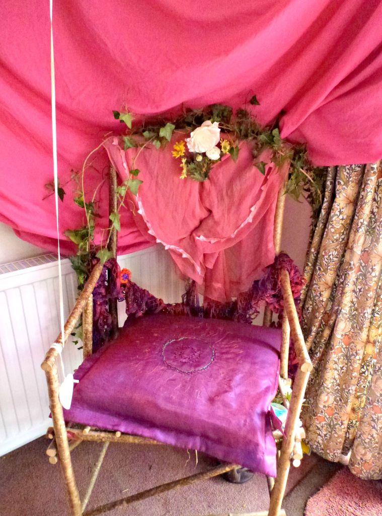 A fairy throne for a fairy party.