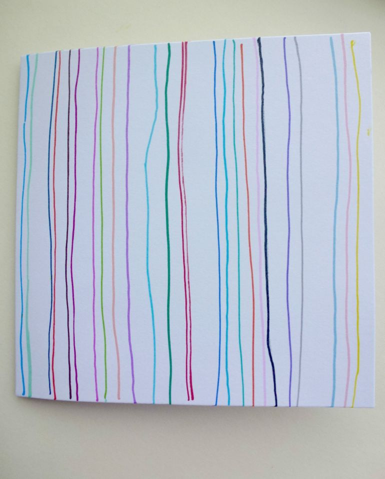 A stripey birthday card