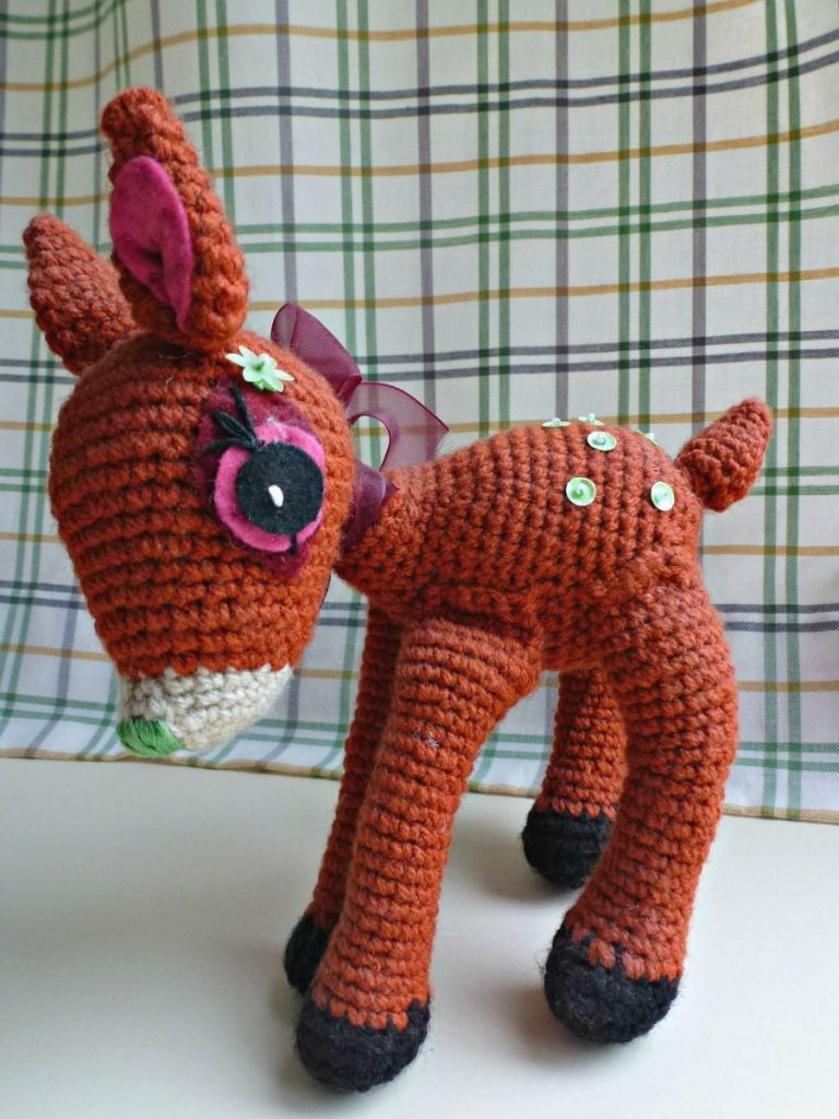 amigurumi fawn. a bit dusty now