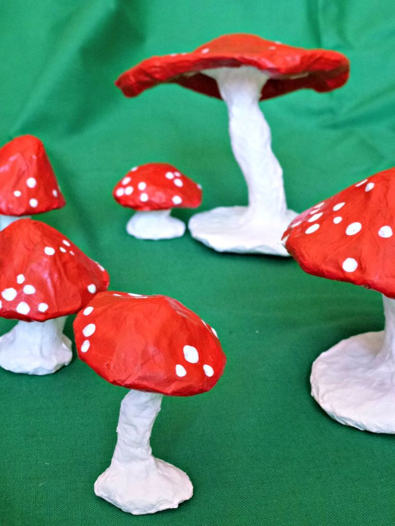 paper mache toadstool ring