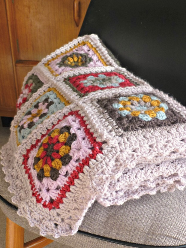 another finished crochet blanket.