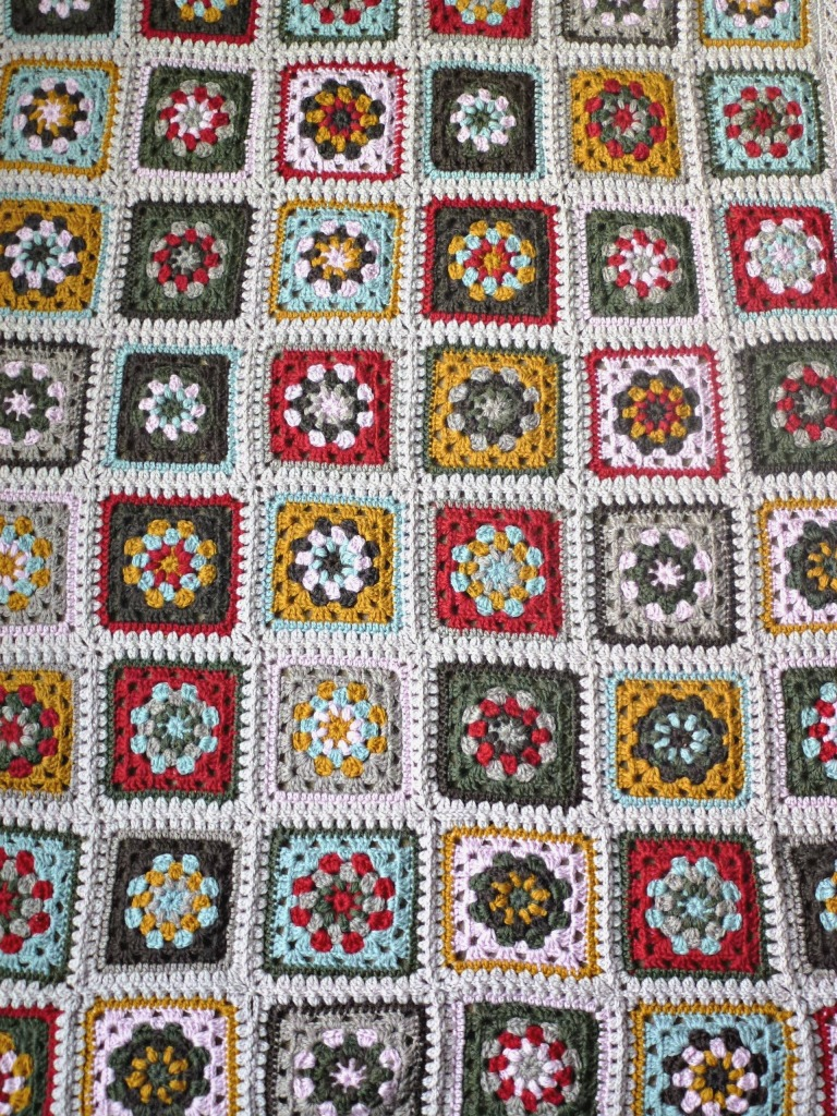 continuous join for putting granny squares together.