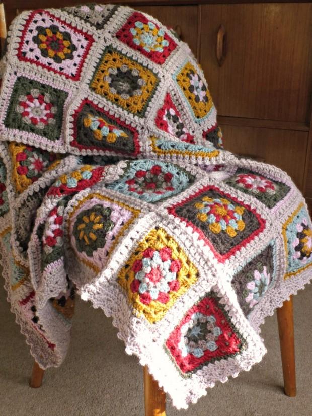 granny square blanket for the fireside.
