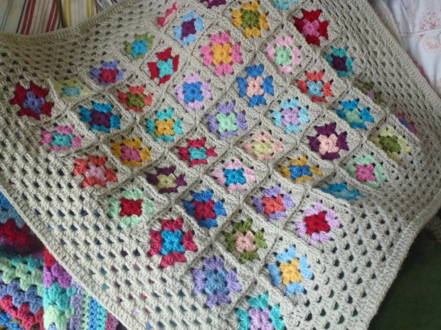 Little squares baby blanket.