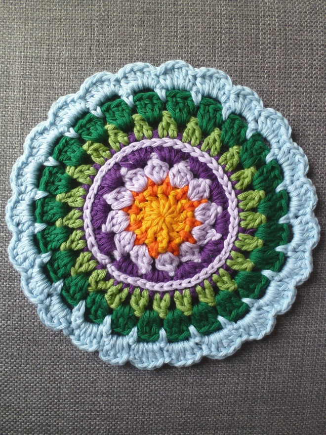 Made in K Town. Free crochet mandala pattern.