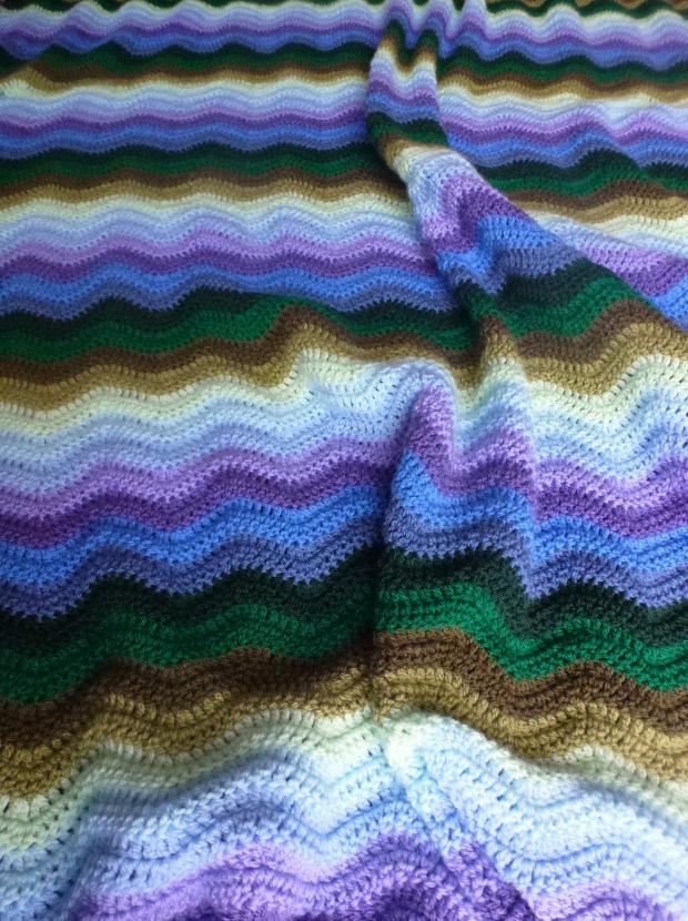 My boy's ripple blanket.