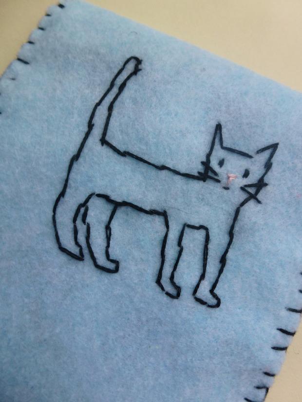 stitched cat