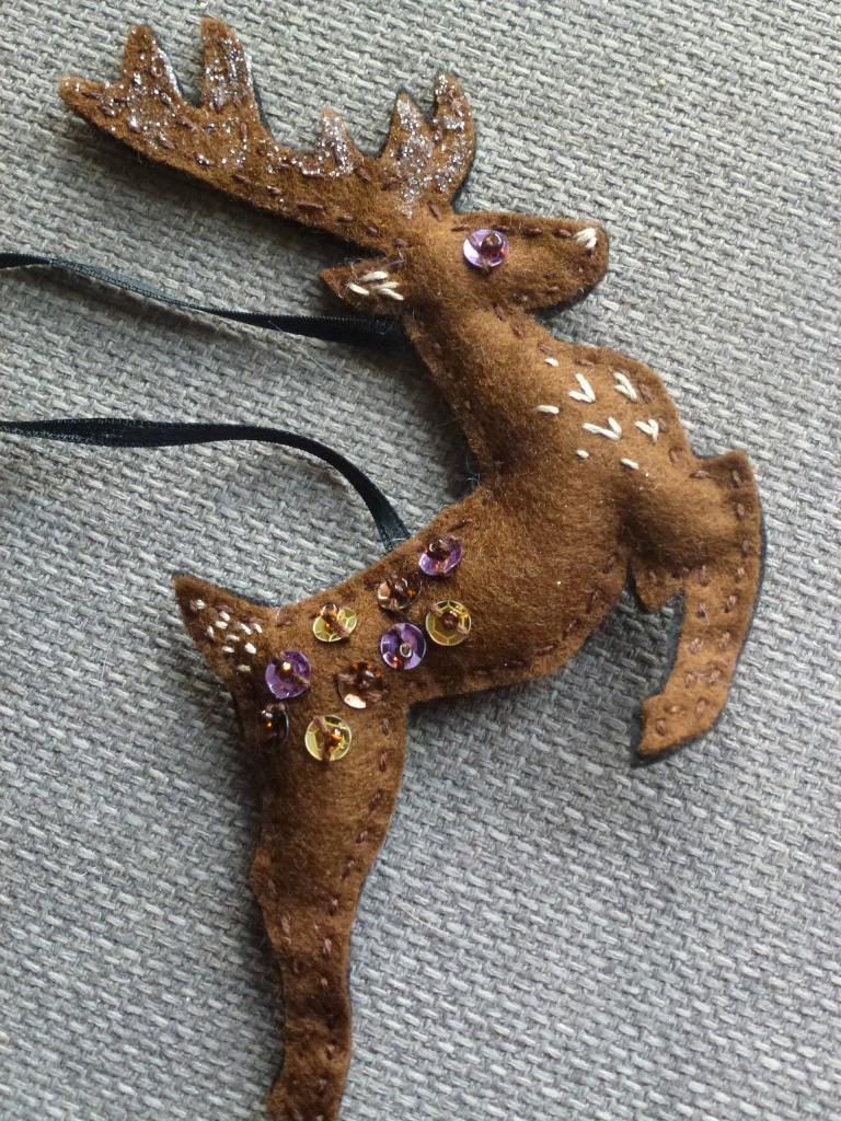a reindeer decoration