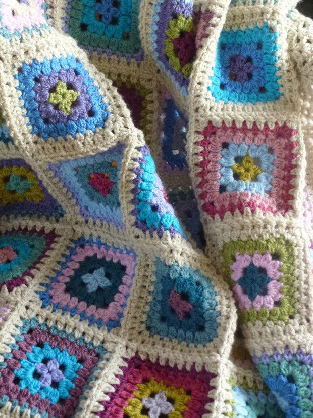 colourful petal patch blanket