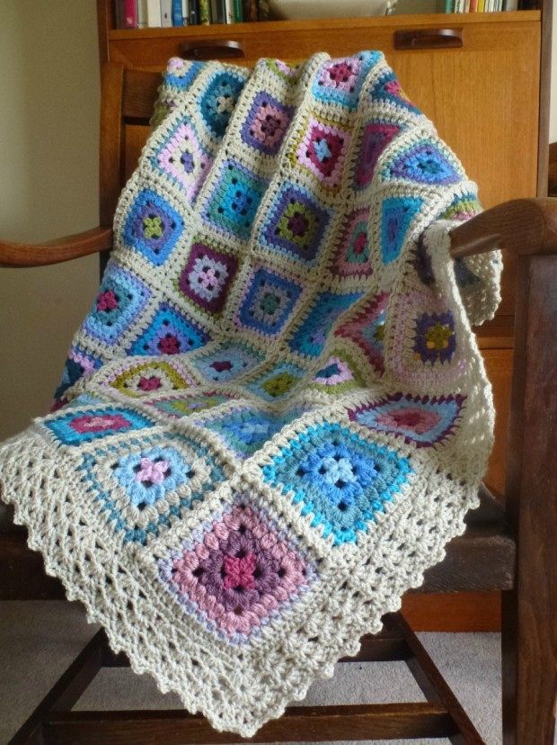 crochet chair drapage
