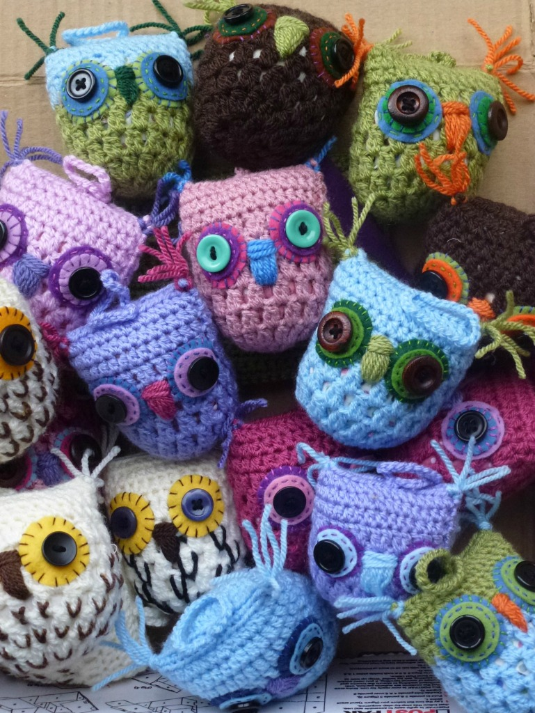 crochet owl decorations