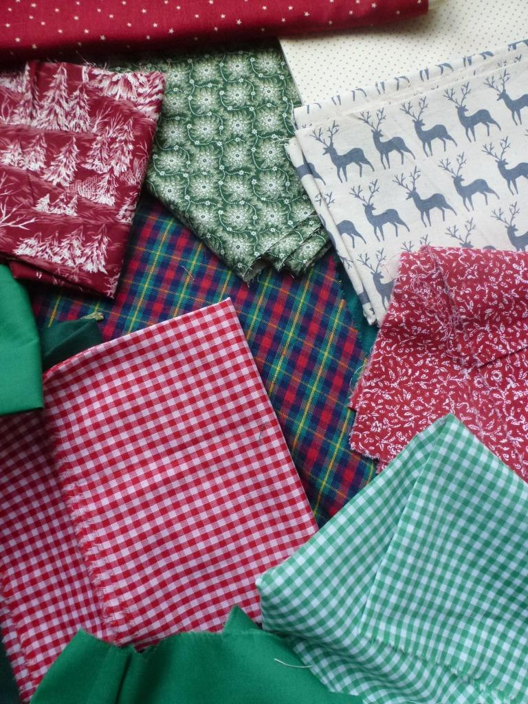 fabric for xmas decs