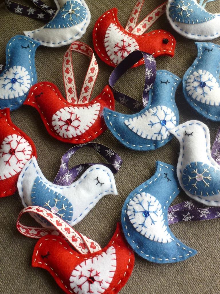 festive felt doves