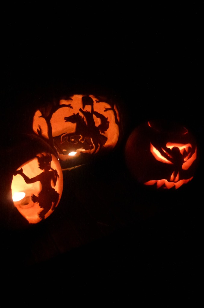 Halloween pumpkin offerings.