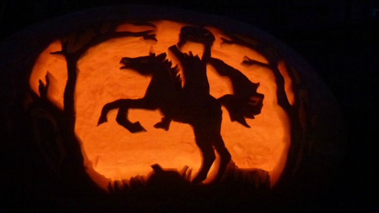 Headless Horseman Halloween Pumpkin