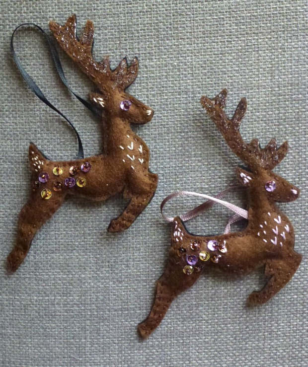 prancing reindeer decorations