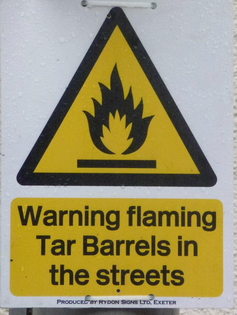 Tar barrels in the streets