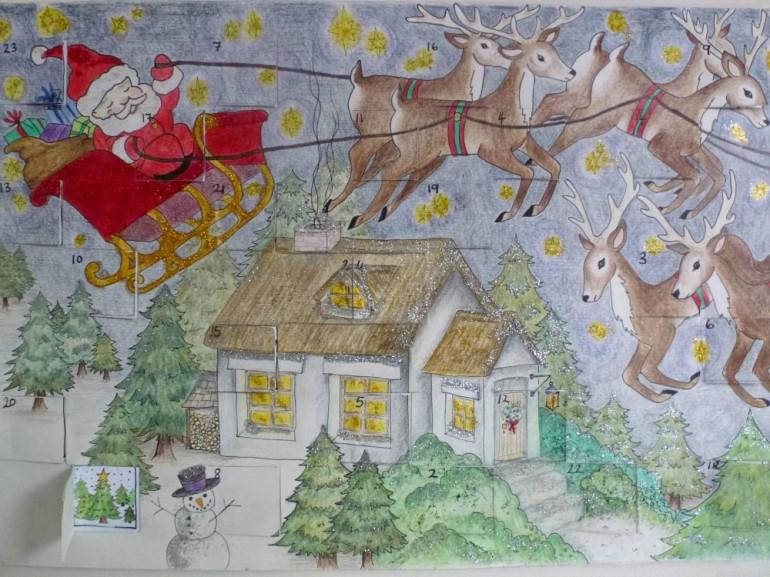 homemade advent calendar from 2014
