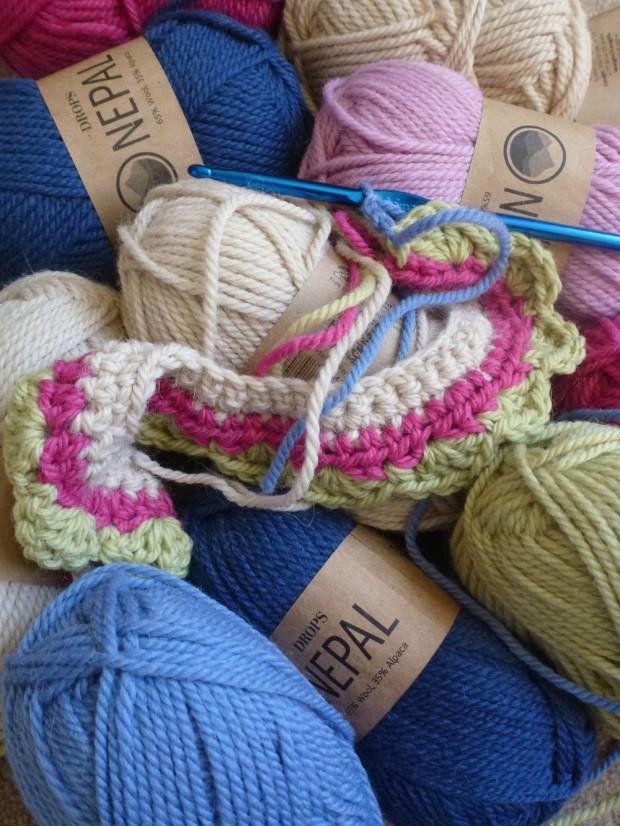 starting crochet cardi