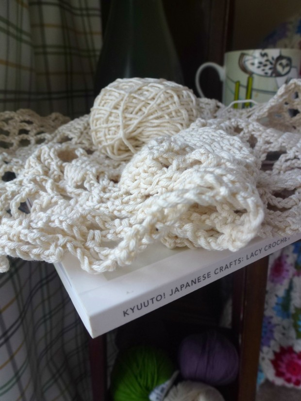 unfinished doily