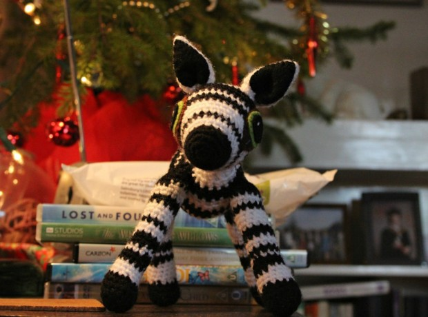 christmas zebra