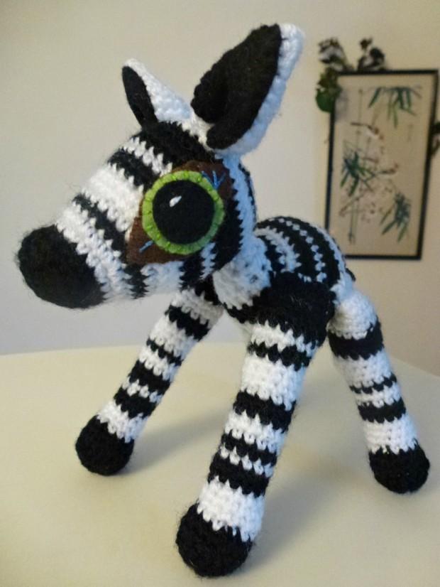 Cute amigurumi zebra