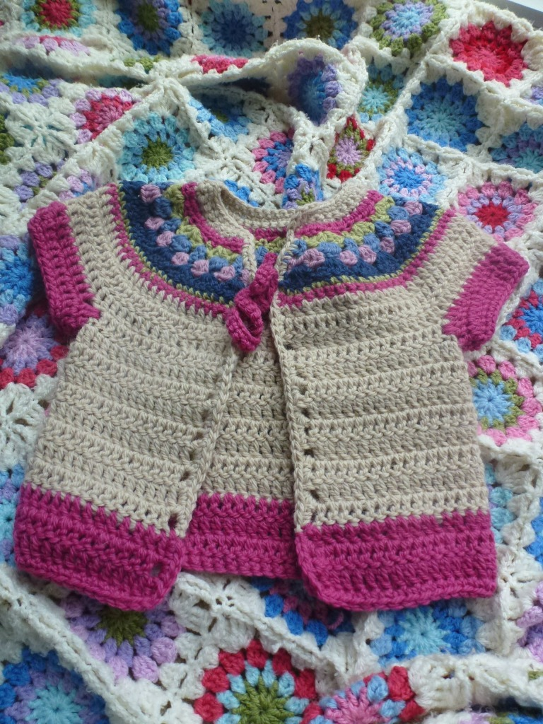 Kids crochet cardigan