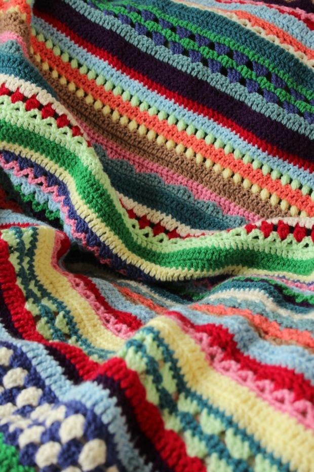 Spice of Life crochet blanket.