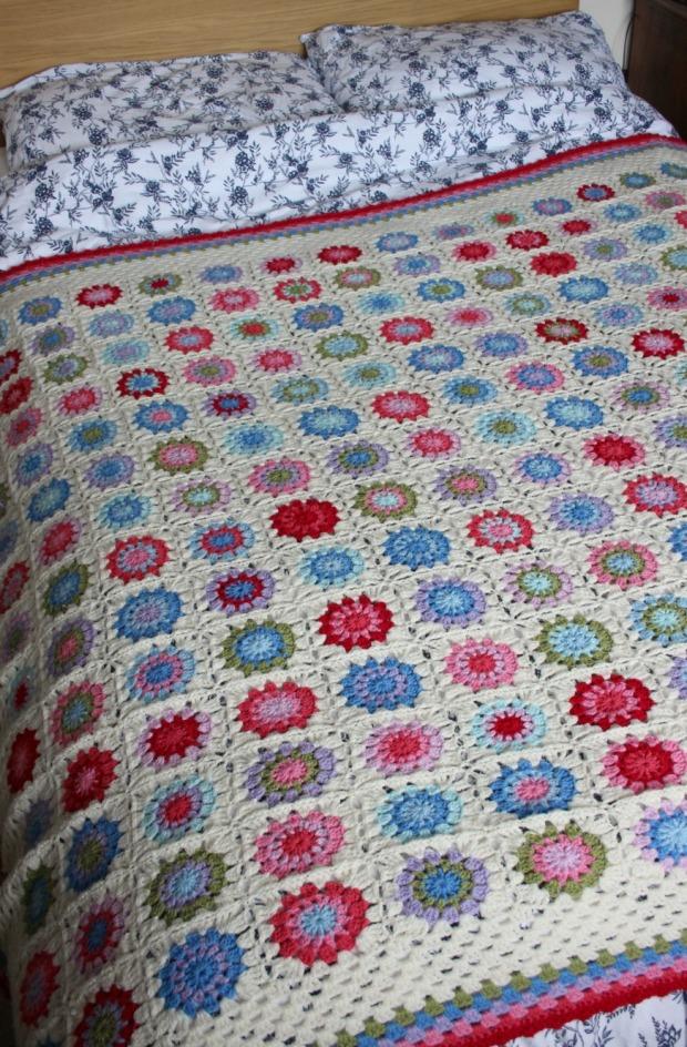 crochet blanket on my bed