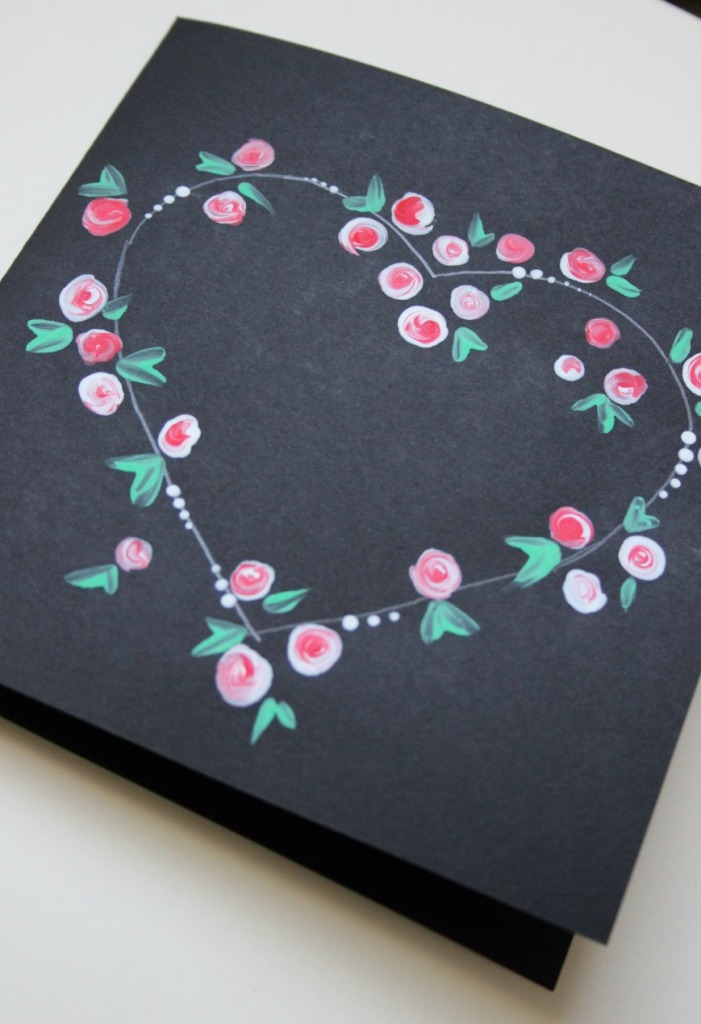 Easy handmade valentines day card.