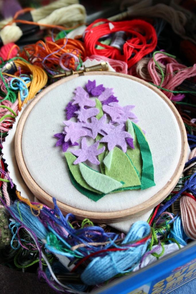 fabric hyacinths