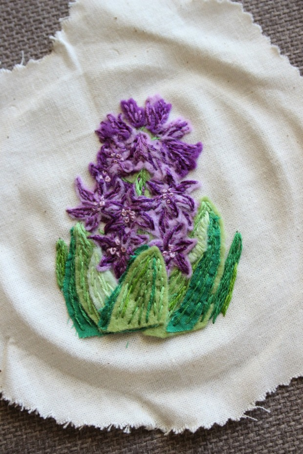 Hyacinth embroidery