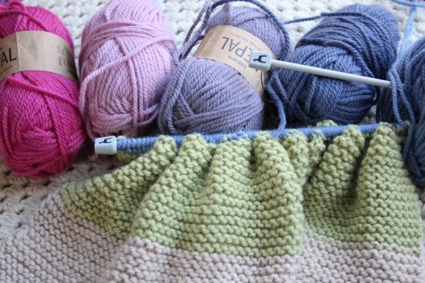trying knitting