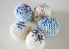 Amigurumi Easter Eggs. Free crochet pattern.