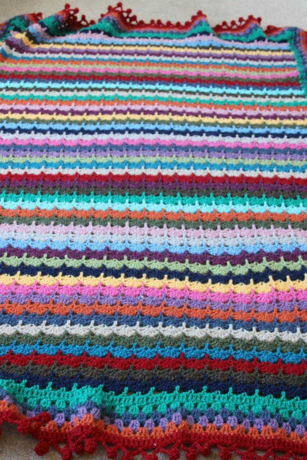 Stacked shells. SoL inspired blanket.