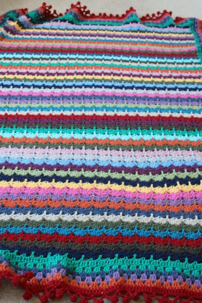 Stacked shells. SoL inspired blanket.