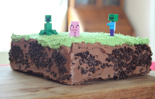 A really easy Mine Craft cake.